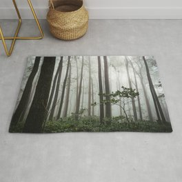 Great Smoky Mountains National Park - Forest Fog Adventure Rug