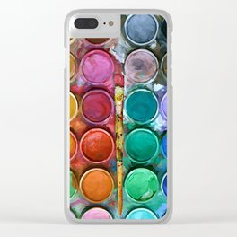 watercolor palette Digital painting Clear iPhone Case