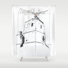 NUDEGRAFIA - 54 flyer Shower Curtain