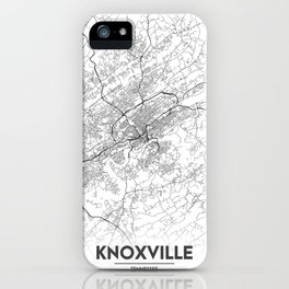 Minimal City Maps - Map Of Knoxville, Tennessee, United States iPhone Case