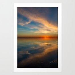 Mirror Sunset Colington, NC Art Print