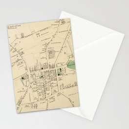 Vintage Map of Huntington NY (1873) Stationery Cards