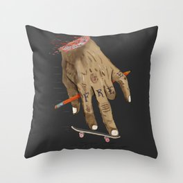 FREE HAND Throw Pillow