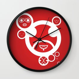 RED - Type Face Wall Clock