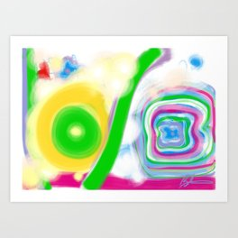 Abstract childrens love painting decor frame bedroom wall art framed print canvas poster graphic Art Print