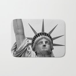 Black and White Statue of Liberty Bath Mat