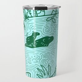 Capybara Jungle Travel Mug