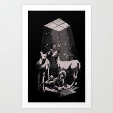 Deer Dad Art Print