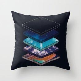 Geometric Earth Layers Throw Pillow