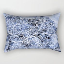 Edinburgh City Street Map Rectangular Pillow