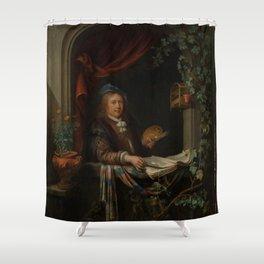 "Gerard Dou ""Sef-portrait"" Shower Curtain"
