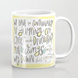 jumping off cliffs - kurt vonnegut quote Coffee Mug