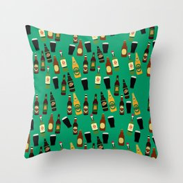 Funny Alcohol Botles Throw Pillow