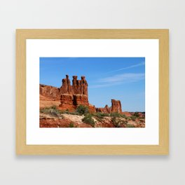 Three Gossips Arches National Park Framed Art Print