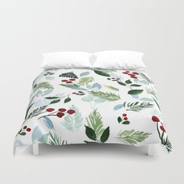 Blue Christmas Duvet Cover