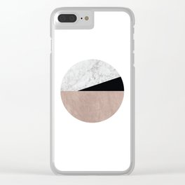 Minimalist Geometric 2 Clear iPhone Case