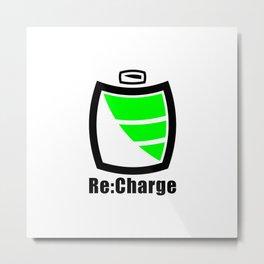 Re:Charge Metal Print