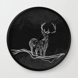 Mountain (Closer Than You Know) Black & White Wall Clock