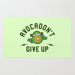 Avocadon't Give Up (Avocado Pun) Rug