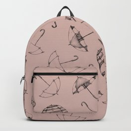 Scattered Umbrella's in Putty Pink Backpack