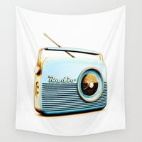 radio Wall Tapestries featuring Old Radio II by Mr & Mrs Quirynen