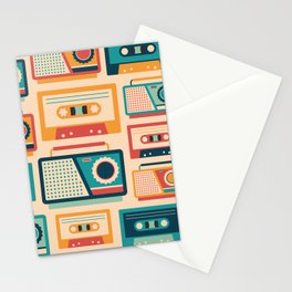 Audio Cassettes and Radios Stationery Cards