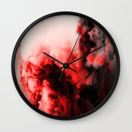 In Pain - Red And Black Abstract Wall Clock