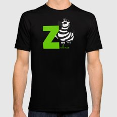 z for zebra Mens Fitted Tee Black SMALL