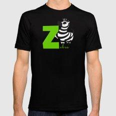 z for zebra Black Mens Fitted Tee MEDIUM