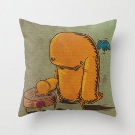 Happy Drummer Throw Pillow