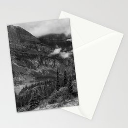 Grinnell Lake from the Trail No. 1 bw - Glacier NP Stationery Cards
