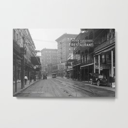 St. Charles Street from Canal, New Orleans, LA Metal Print