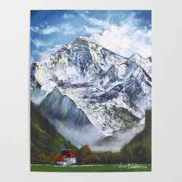 Jungfrau mountain. Swiss Alps Poster