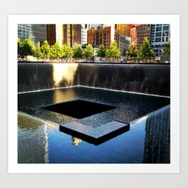 9/11 Memorial South Pool Art Print