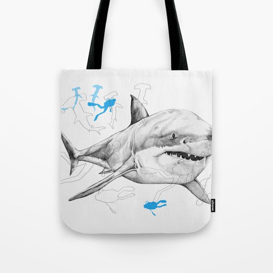 'Sharks & Silhouettes' Tote Bag