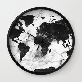 world map marble 3 Wall Clock