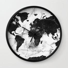 world map marble 3 Wall Clock