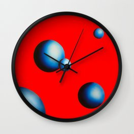 Melt in Red Wall Clock