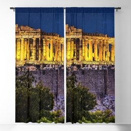 Acropolis; Athens Greece on a star-filled night Blackout Curtain