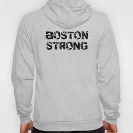 Support BOSTON STRONG Black Grunge Hoody