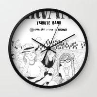 nirvana Wall Clocks featuring NIRVANA by millo
