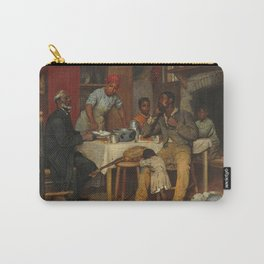 A Pastoral Visit, by Richard Norris Brooke, 1881 . An African American family Carry-All Pouch