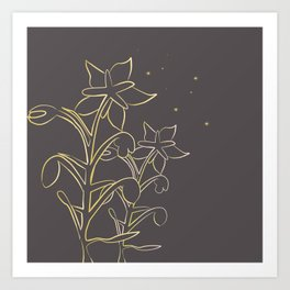 Golden borage  plants Art Print