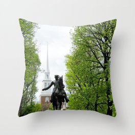 Revere and the Old North Church Throw Pillow