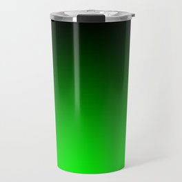 Black Lime Green Neon Nights Ombre Travel Mug
