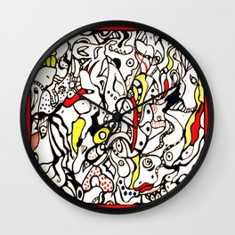 Those Smiling Faces Wall Clock