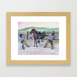 Rodeo Ropers by Maureen Donovan Framed Art Print