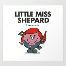 Little Miss Shepard Art Print
