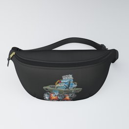 Classic American Muscle Car Hot Rod Cartoon Vector Illustration Fanny Pack