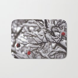 Berries in Winter Bath Mat